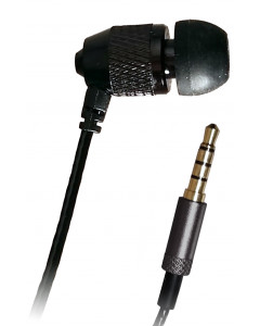 "Short Buds, 15"" Cord Single Stereo-to-mono Earbud for Clip-on Mp3 Players"