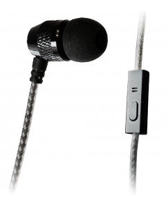 XDU Single Noise Isolating Earbud with Mic and Fabric-reinforced Cord