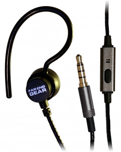 XDU Recon + Mic Single Earhook Earphone with Reinforced Cord