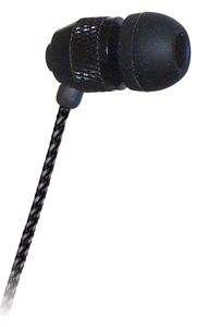 XDU Noise Isolating Earbud (In-Ear) with Fabric-wrapped Cord